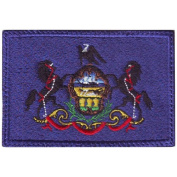 Nebraska Flag Embroidered Patch with Hook and loop® Backing