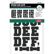 Sei 5.1cm Black Sport Polyvinyl Iron-on Transfer Letters