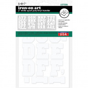 Sei 5.1cm White Sport Polyvinyl Iron-on Transfer Letters