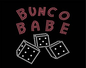 Bunco Babe Crystal Dice Iron On Applique