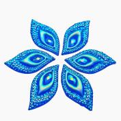 Standout Big S Leaf Shape Sew on Rhinestones Crafts Design Sewing DIY For Costume Wedding Dress Decorations 15x30mm 30pcs