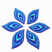Standout Big S Leaf Shape Sew on Rhinestones Crafts Design Sewing DIY For Costume Wedding Dress Decorations 15x30mm 30pcs