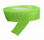 2 Rolls 2.5cm Double Faced Satin Ribbon Chiffon Decorative Hair Bow Grass Green