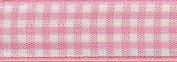 40mm Berisford Gingham Ribbon 57 Rose - per metre