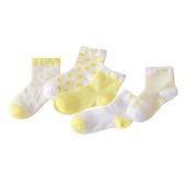 CHIC-CHIC 5 Pairs Cute Toddler Newborn Baby Socks Lovely Soft Elastic Ankle Socks for Baby Girls Boys