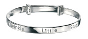 D for diamond Sterling Silver for Children's Twinkle Baby Expanding Bangle