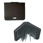 Binary 400 CD DVD Black Leather look Carry Case Organiser wallet