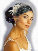 Leslie Li Women's Floret Hair Comb Pearl Crystal Sprays and Birdcage Veil Bridal One Size Ivory 27-517