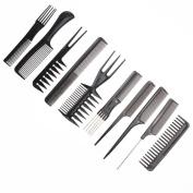 Comb Kit Hair Comb Kit - 10pcs/Set Professional Hair Brush Comb Salon Barber Anti-static Hair Combs Hairbrush Hairdressing Combs Hair Care Styling Tools - Beard Kit