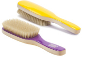 Torino Pro #270 / Boar Bristle Paddle Hair Brush / Soft Natural Boar Bristles / Great for thinning hair and to lay down frizzy hair / Great 360 Wave Brush