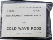 1 dozen Short Replacement rubber Bands for Cold Wave Rods
