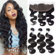 GEM Beauty Malaysian Body Wave 3 Bundles with Frontal Closure Unprocessed Malaysian Virgin Hair Weft with Frontal