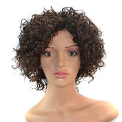 CXYP Short Curly Hair Wig for Black Women Heat Resistant Synthetic Wigs Kinky Curly