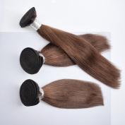ChisonHair Brazilian Virgin Hair Straight 3 Bundles/lot Weight(100g+/-5g)/Bundle Grade 8A Unprocessed Virgin Human Hair Weave Weft #4 Colour Tangle-free