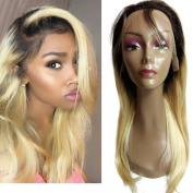 VKHair 30cm Ombre Blonde 1B/613# Silky Straight Human Hair Lace Front Wig 130% Hair Density Unprocessed Brazilian Virgin Hair Wig