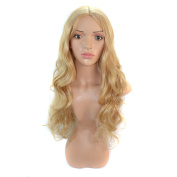 CXYP Wavy Golden Blonde Synthetic Hair Wig Long Curly Cosplay Wig