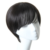 BESTLEE Korean Style Heat Resistant Pixie Cut Straight Short Wig with Bangs for Woman