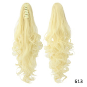 KUPARK 60cm Long Curly Wavy Ponytail Claw Clip Hair Extension Hair Piece