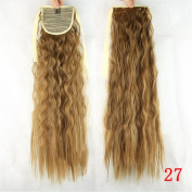 KUPARK 55cm Long Curly Wrap Around Ponytail Wig Hair Extensions