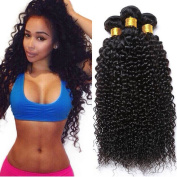 8A Brazilian Curly Virgin Hair Weave Bundles 100% Unprocessed Human Hair Extensions Brazilian Virgin Hair Kinky Curly Natural Colour Can Be Dyed and Bleached Tangle Free 95-100g/pc