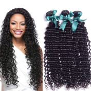 Fabc Hair Brazilian Deep Wave Bundles of 7a Human Hair Kinly Curly Hair Extensions 3 Bundles Hair Sexy Curly Weave Human Hair Natural Colour