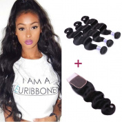 LSY Brazilian Body Wave 3 Bundles With Closure Unprocessed Remy Human Hair Weave With Lace Closure Brazilian Virgin Hair
