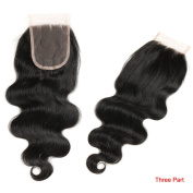 Brazilian Body Wave Closure Unprocessed Virgin Brazilian Body Wave Lace Closure Human Hair Wave Three Part