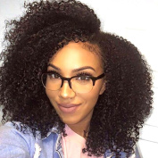 V'NICE 3B 3C Afro Kinky Curly Clip In Human Hair Extensions 8A Virgin Peruvian Human Hair Clip In Hair for African American Women 8 pcs/set 120grams 18 Clips Curly Clip On Hair Extensions