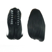 KUPARK 26cm Short Straight Synthetic HairPiece Claw Clip in/on Ponytail, 4010#