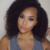 MeiRun U Part Human Hair Wig 1x 3 Part Kinky Curly Lace Front Human Hair Wigs 7A Virgin Wigs for Black Women Natural Black