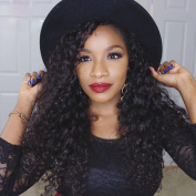 Addcolo Unprocessed 8A Peruvian Human Hair U Part Wigs For Black Women Deep Curly U Part Wig 100 Human Hair Middle Part Wig Natural Colour