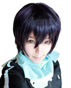 ROLECOS Yato Cosplay Wig Mens Short Straight Anime Hair Wigs Purple