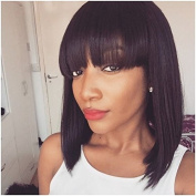 DLW 360 Lace Front Wigs Natural Colour 130% Density Silky Straight Short Bob Wigs Brazilian Brazilian Virgin Human Hair Wigs …