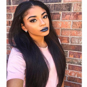 MeiRun Kinky Straight Lace Front Human Hair Wigs Italian Yaki Straight Remy Human Hair Wigs Full Lace Wigs for Black Women Natural Black