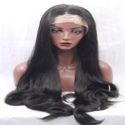 Angel Hair synthetic lace front wig body wave black colour hair for women with baby hair