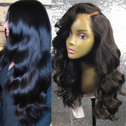 1b# Black Human Hair Body Wave Glueless Full Lace Wigs with Baby Hair Brazilian VIrgin Hair Lace Front Wigs Preplucket
