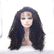 Top Quality Fibre Loose Curly Wigs Synthetic Lace Front Wigs High Density Black Colour Heat Resistant Synthetic Hair Wigs24-70cm