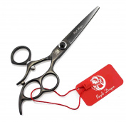 Purple Dragon 15cm Black Salon Swivel Hair Cutting Scissors/Shears - Perfect for Professional Barber