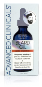 Advanced Clinicals Men's Beard Oil with sandalwood and black cumin seed oils for dry, prickly beards and moustaches. Large 50ml bottle.