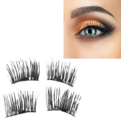 Magnetic Lashes , LUNIWEI NEW Ultra-thin Eye Lashes 4mm ,3D Mink Reusable