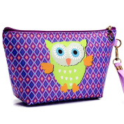 Cosmetic Bag, Hometom Portable Owl Cosmetic Case Pouch Zip Toiletry