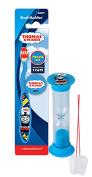 """Thomas & Friends"" 3pc Bright Smile Oral Hygiene Set! Thomas Soft Manual Toothbrush, Brush Cap, & Brushing Timer! Plus Bonus ""Remember To Brush"" Visual Aid!"