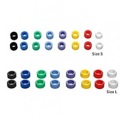 Easyinsmile Multi-Colour Small Type Dental Silicone Instrument Colour Code Rings