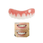 Instant Smile Teeth Cosmetic Teeth Comfort Fit Flex Cosmetic Veneer, Natural Small Comfortable New Top Cosmetic Veneer Teeth For a Perfect Smile, One Size Fits All