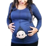 Q.KIM Humour New Mommy Maternity Top Shirt Funny Pregnancy Pregnant T shirts