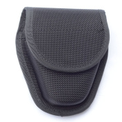 Single Black Hidden Snap Handcuff Case Law Enforcement Military Standard Cuff Pouch with Belt Loop