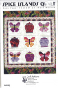 Spice Islands Quilt Pattern - Finished Size 100cm x 100cm Easy Paper Foundation Sheet Method from Love Quilt Patterns