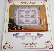 Hearts Choice Wall Hanging Quilt Pattern by Four Corners