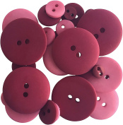Button Up! Smoothie Pack Buttons-Burgundy