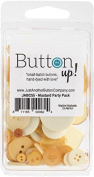 Button Up! Party Pack Buttons-Mustard